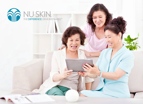 Senior adults with digital tablet