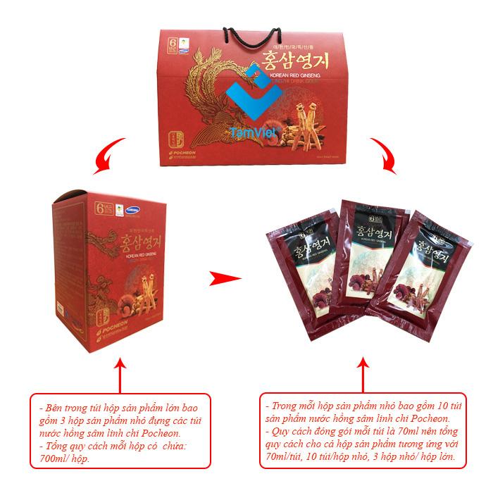 Nước hồng sâm linh chi Pocheon 6