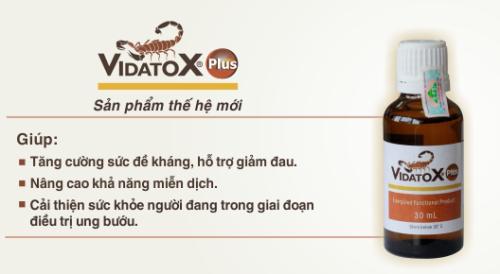 vidatox hỗ trợ điều trị ung thư